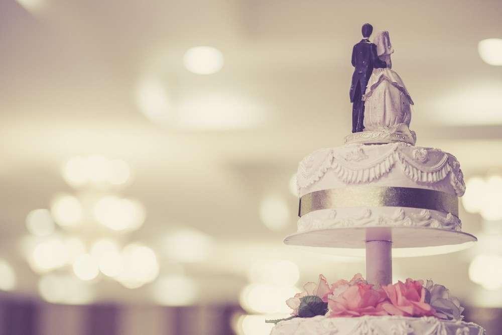 Klassische Variante einer Hochzeitstorte