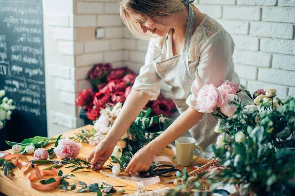 Zusammenarbeit mit einem guten Floristen