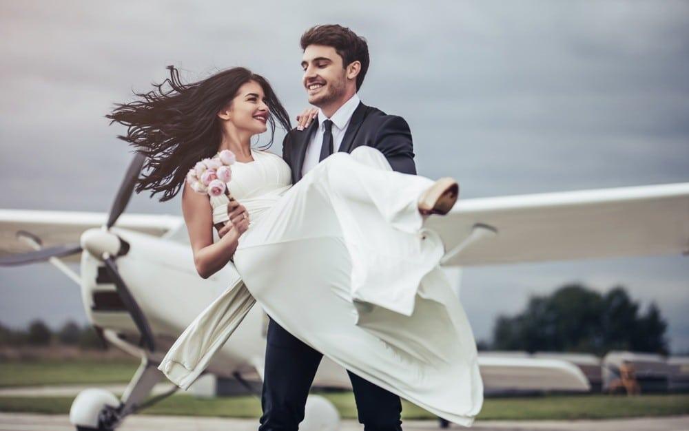 Über den Wolken heiraten
