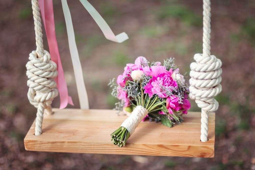Zusammenstellung des Brautstraußes