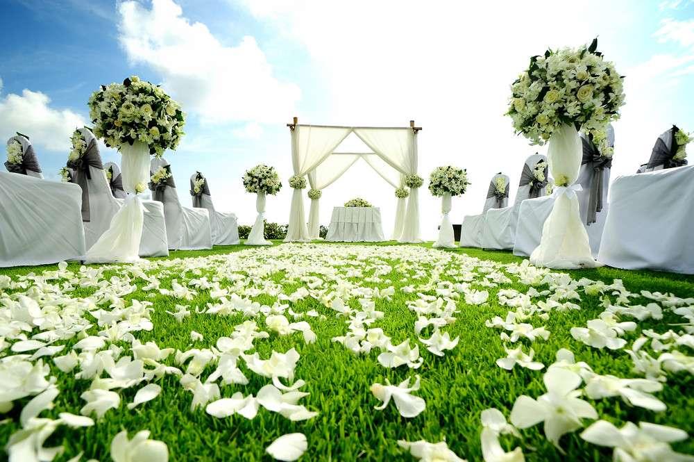 Blumen und Bäumen für Ihre Hochzeitsfeier