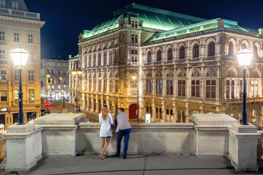 Romantische Zweisamkeit in Wien