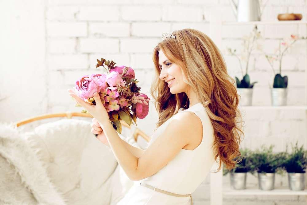 Haar der Braut
