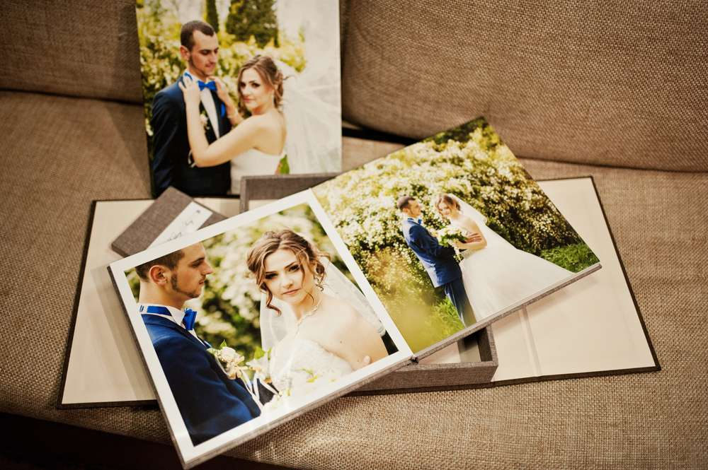 Verschiedene Arten von Hochzeitsalben