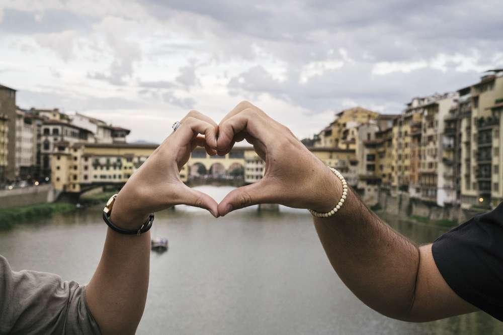 Toskana ist ein perfektes Ziel für romantische Flitterwochen