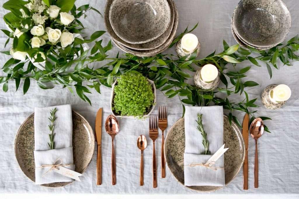 Gestaltung und Dekoration mit Servietten bei einer Hochzeitfeier